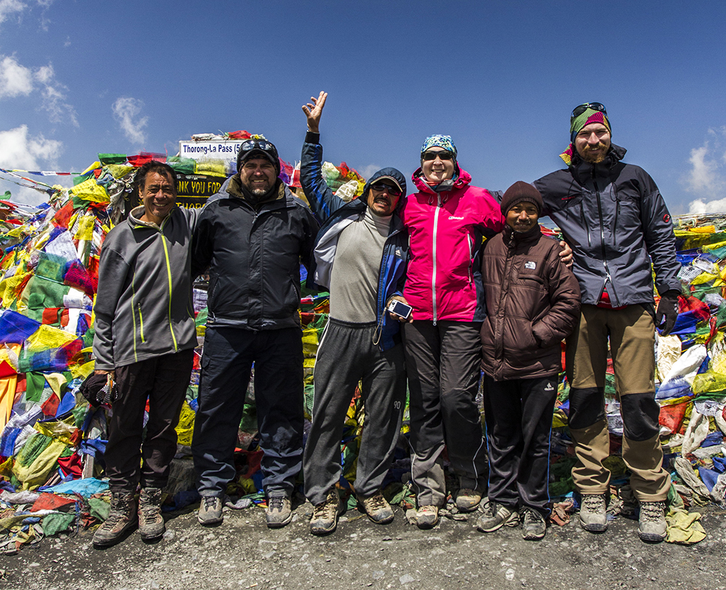 Наша група на перевалі Торунг Ла Пасс (5416 м)