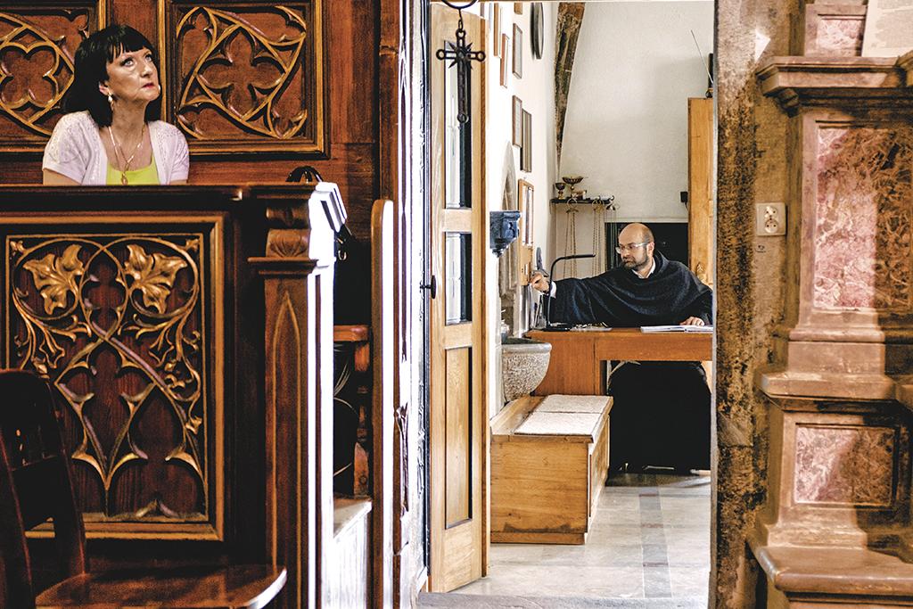 У костелі міста Кросно