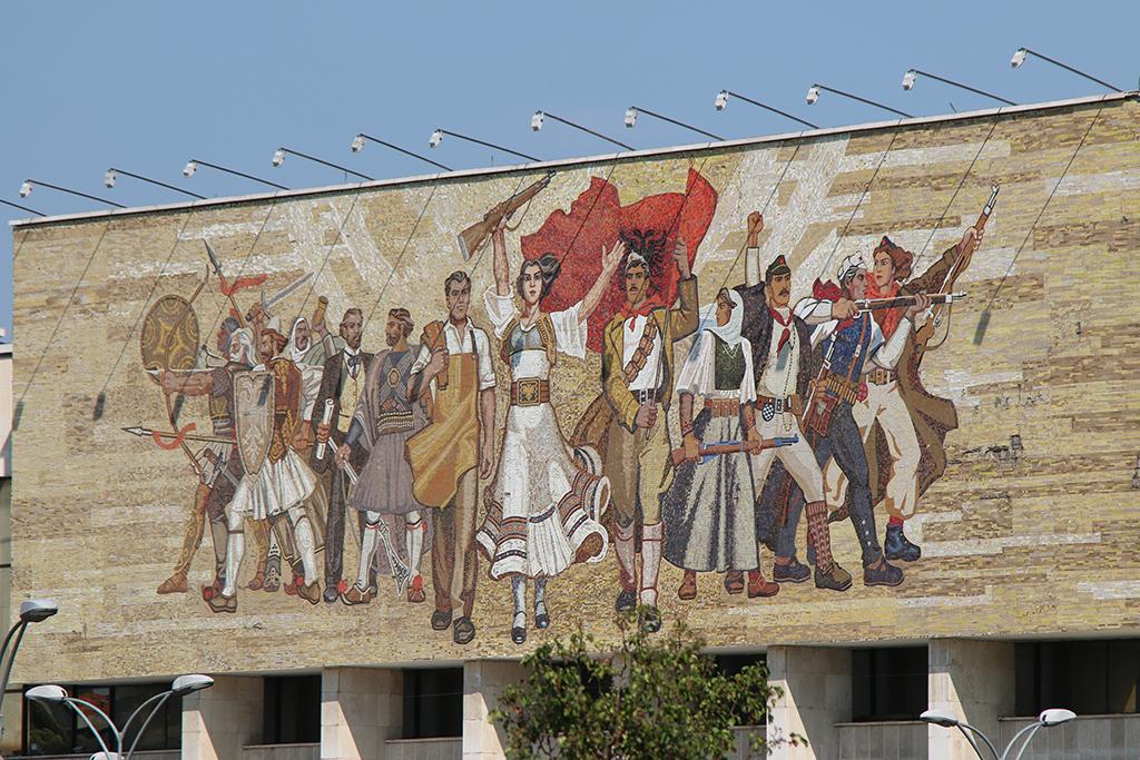 Фреска в Тирані
