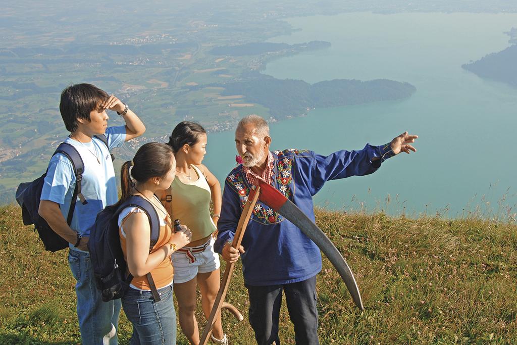 Menschen an der Tourismusfront