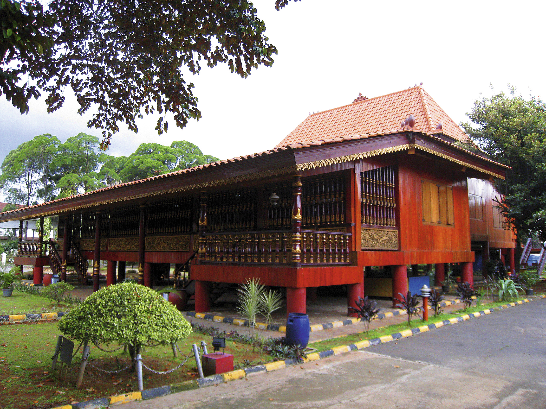 Rumah Limas, a South Sumatra traditional house at South Sumatra Pavilion, Taman Mini Indonesi Indah, Jakarta.
