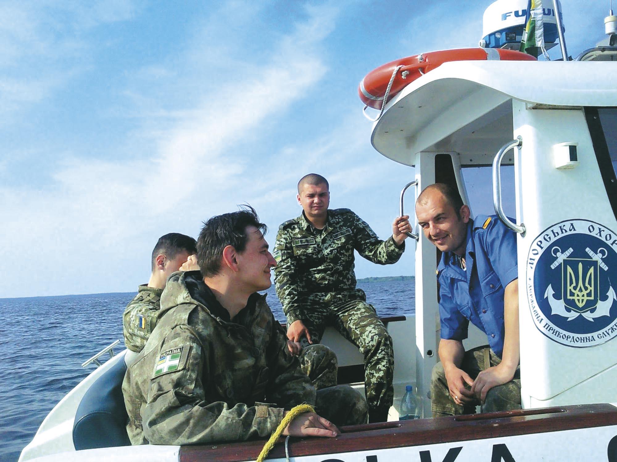 Українські прикордонники на Київському морі