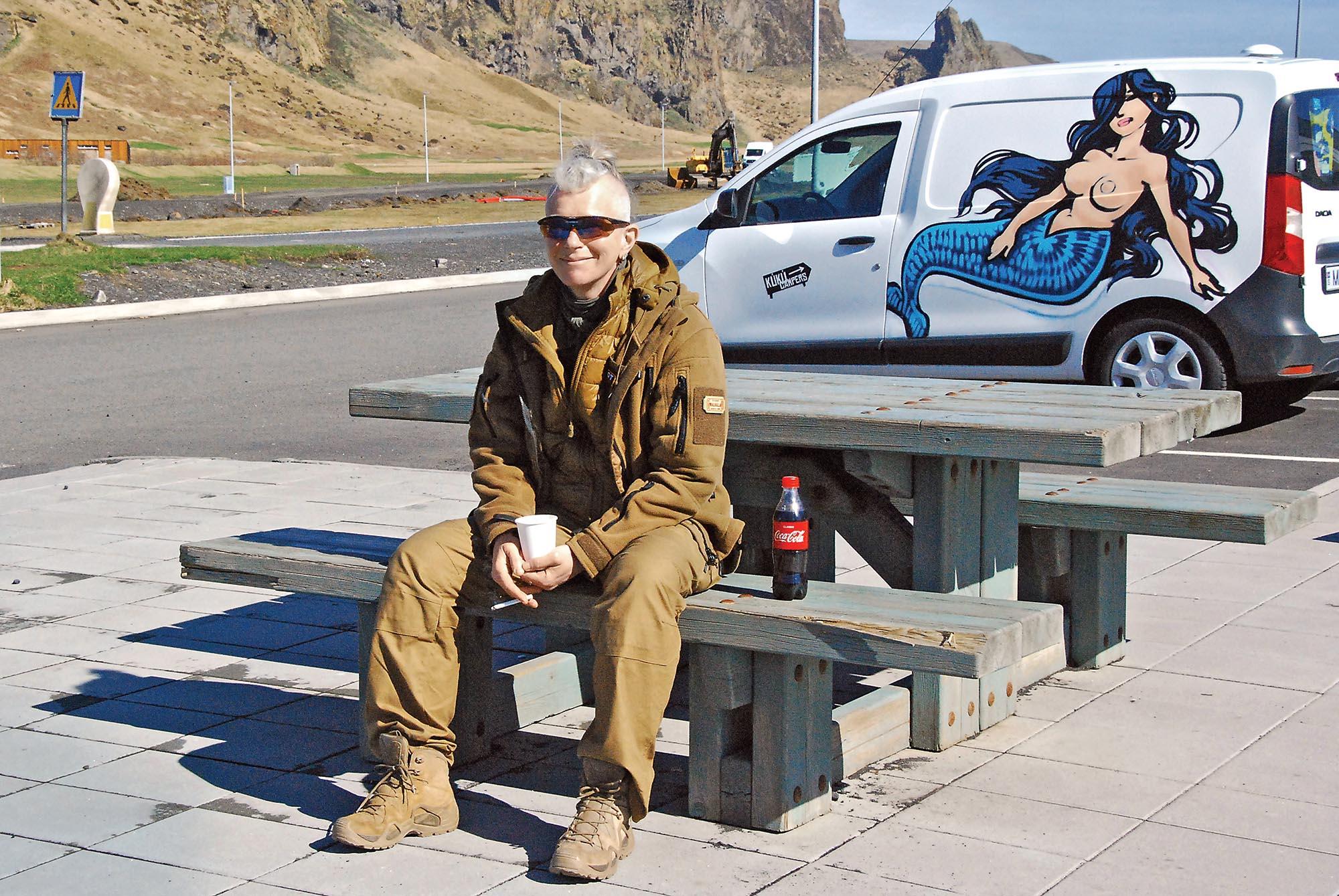 Юля Паєвська (Тайра) в Ісландії. Фото Оксани Лігостової