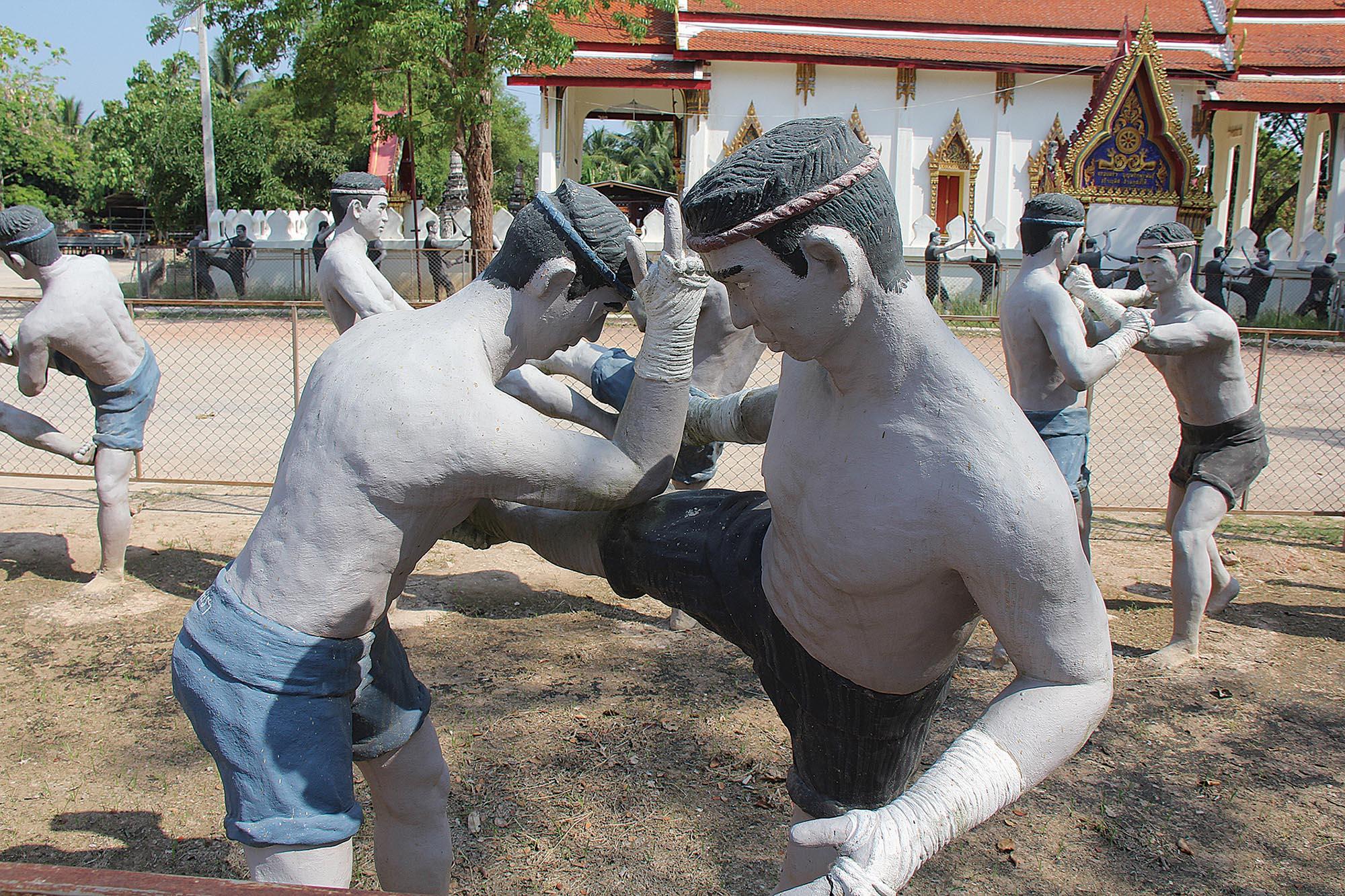 Скульптурна композиція увічнює захисників королівства від бірманських нападників