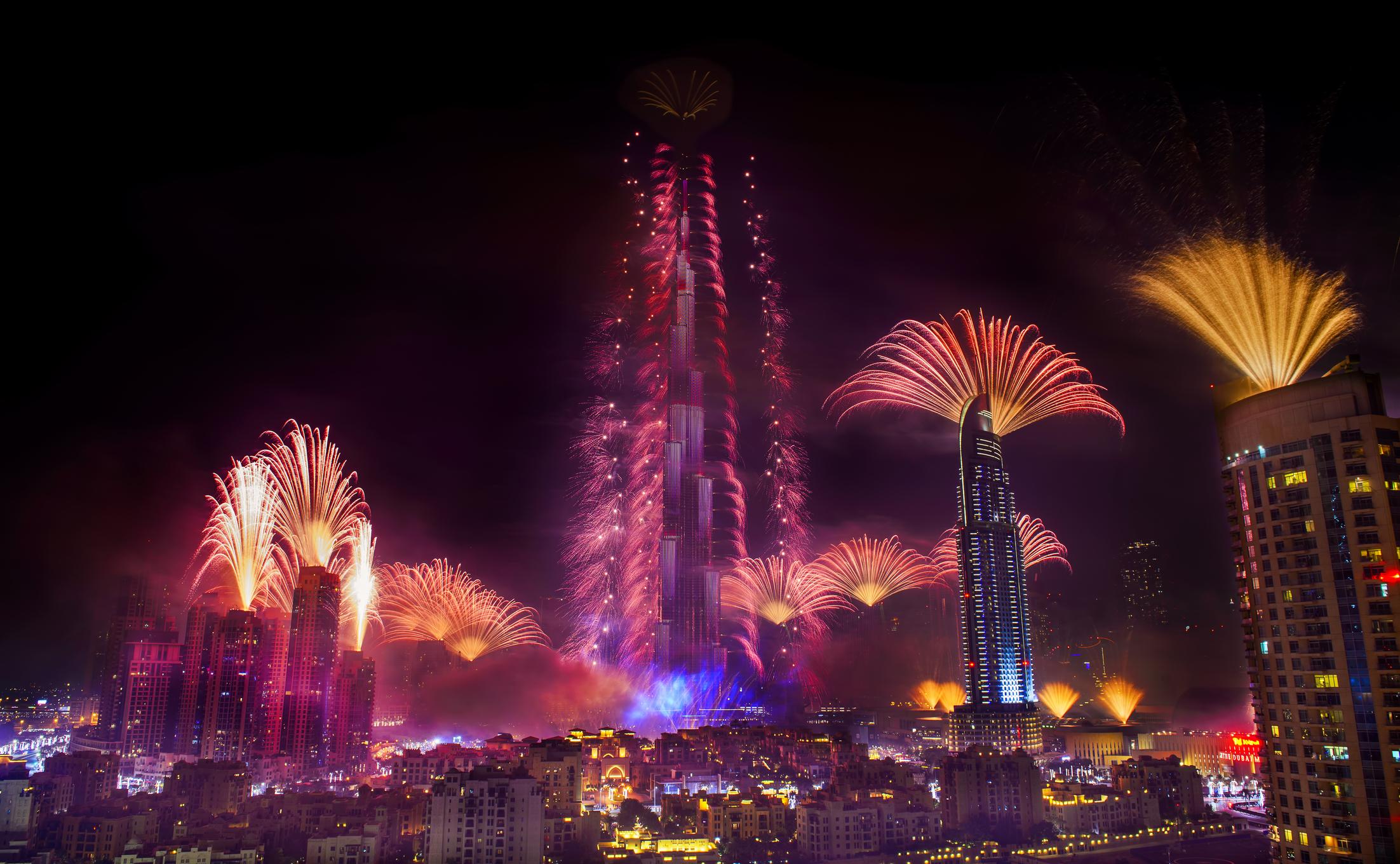 Святкування Нового року в Дубаї